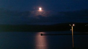 Moon over Fishguard bay